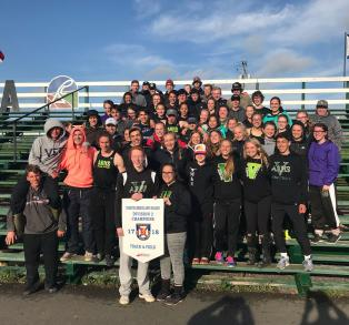 The ARHS Track and Field team wins Division 2 Regional Banner in Stellarton. Congratulations athletes and coaches!